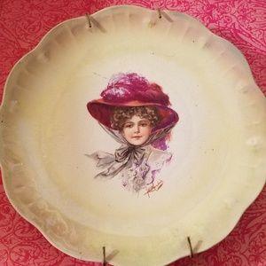 Vintage Plate with Plate Hanger,Limoges